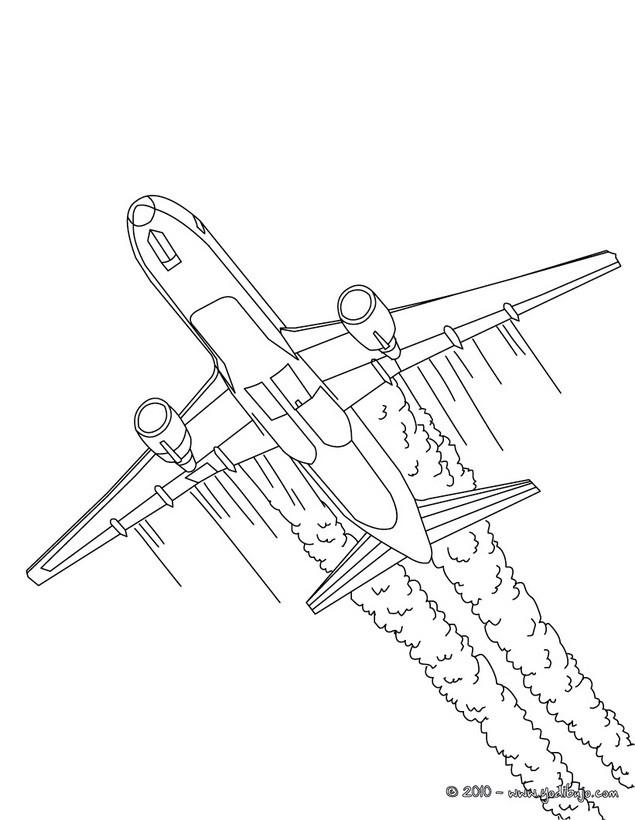 Dibujos para colorear un jet privado - es.hellokids.com