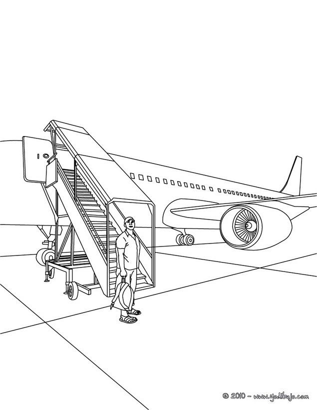 Dibujos para colorear escalera del avion - es.hellokids.com