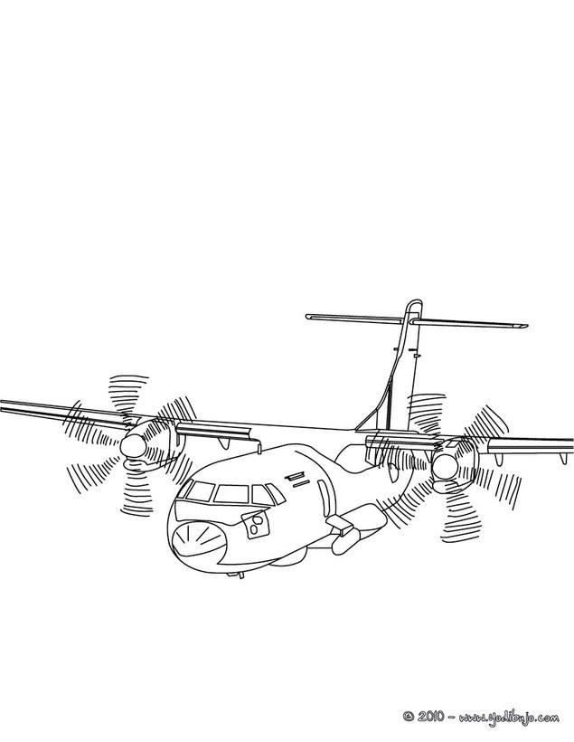 Dibujos para colorear AVION - 38 dibujos de avion para pintar y ...