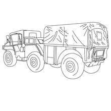 Dibujo para colorear M561 CARGO TRUCK - Dibujos para Colorear y Pintar - Dibujos para colorear VEHICULOS - Dibujos para colorear CAMION