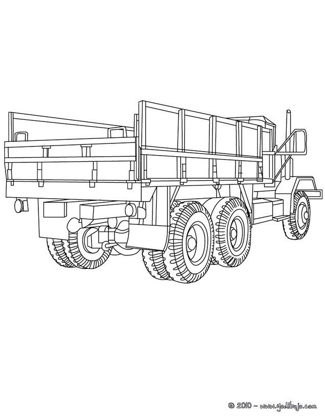 Dibujos para colorear m813 camion cargo - Dessin moissonneuse ...
