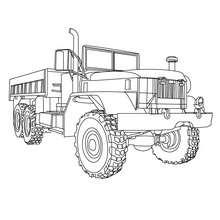 Dibujo par colorear M813 CARGO TRUCK - Dibujos para Colorear y Pintar - Dibujos para colorear VEHICULOS - Dibujos para colorear CAMION