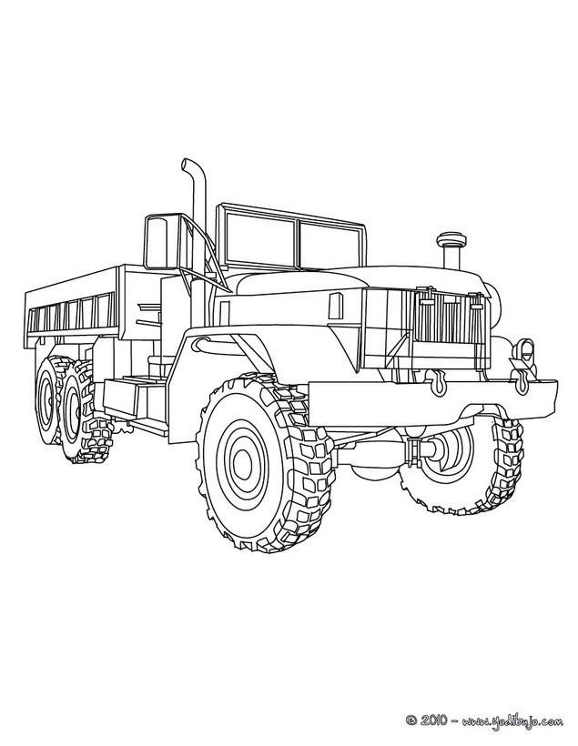 Dibujos para colorear camión con remolque - es.hellokids.com