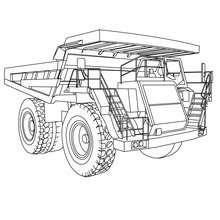 Dibujo para colorear camión caterpillar - Dibujos para Colorear y Pintar - Dibujos para colorear VEHICULOS - Dibujos para colorear CAMION