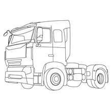 Dibujo para colorear : cabina del camion