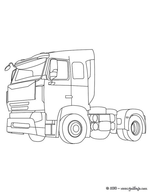dibujo camion imprimir: