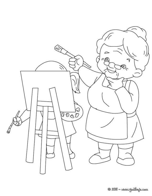 Perfecto Pequeña Abuela Caperucita Para Colorear Festooning ...