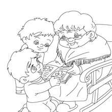 Dibujo para colorear : dia de la abuela