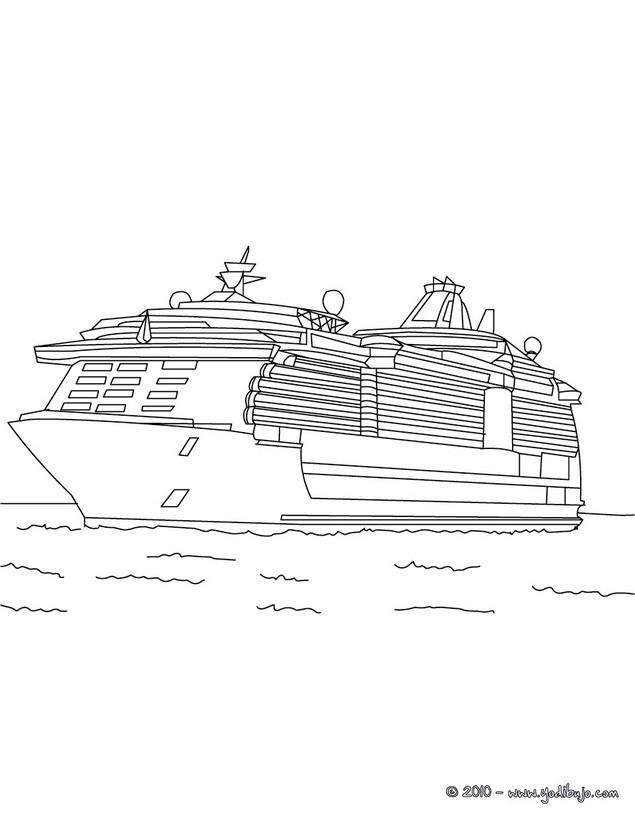 dibujos para colorear crucero