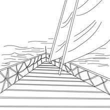 Dibujo para colorear la PRÚA del velero - Dibujos para Colorear y Pintar - Dibujos para colorear MEDIOS DE TRANSPORTE - Dibujos para colorear VELEROS