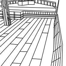Dibujo para colorear PUENTE del velero - Dibujos para Colorear y Pintar - Dibujos para colorear MEDIOS DE TRANSPORTE - Dibujos para colorear VELEROS