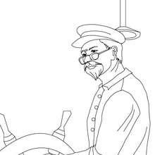 Dibujo para colorear CAPITAN DEL VELERO - Dibujos para Colorear y Pintar - Dibujos para colorear MEDIOS DE TRANSPORTE - Dibujos para colorear VELEROS
