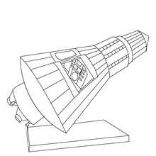 Dibujo para colorear : satelite del COHETE