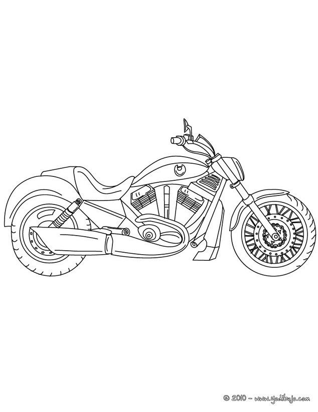 Dibujos para colorear moto deportiva - es.hellokids.com
