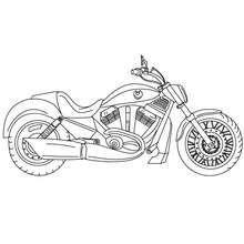 Dibujo para colorear una MOTO HARLEY DAVIDSON - Dibujos para Colorear y Pintar - Dibujos para colorear VEHICULOS - Dibujos para colorear MOTOS