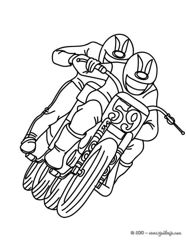 Dibujo para colorear : MOTOCROSS