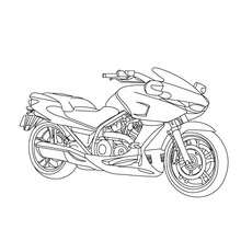 Dibujo para colorear MOTO DEPORTIVA - Dibujos para Colorear y Pintar - Dibujos para colorear VEHICULOS - Dibujos para colorear MOTOS