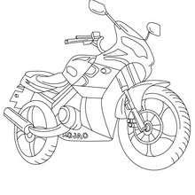 Dibujo para colorear MODELO MOTO DEPORTIVA - Dibujos para Colorear y Pintar - Dibujos para colorear VEHICULOS - Dibujos para colorear MOTOS