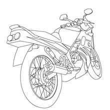 Dibujo para colorear MOTO DE CARRETERA - Dibujos para Colorear y Pintar - Dibujos para colorear VEHICULOS - Dibujos para colorear MOTOS