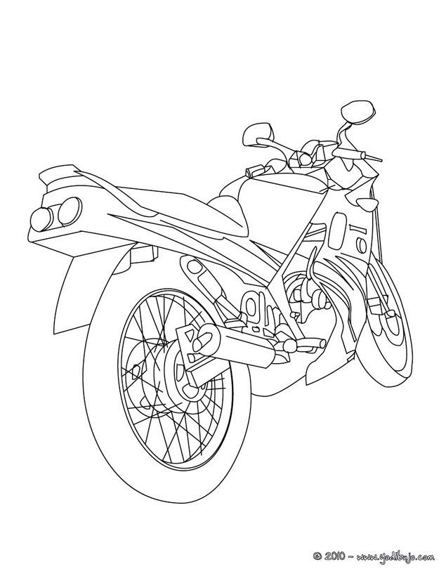 Dibujos para colorear MOTOS - 20 dibujos de moto para pintar y ...