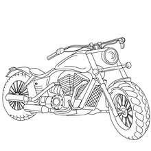 Dibujo de HARLEY DAVIDSON para colorear - Dibujos para Colorear y Pintar - Dibujos para colorear VEHICULOS - Dibujos para colorear MOTOS