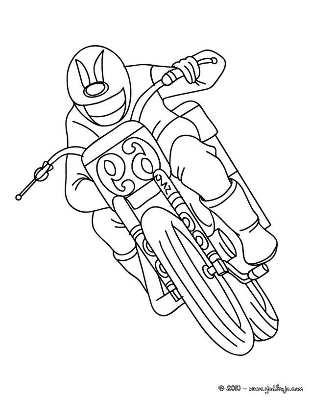 Dibujo de MOTO TRIAL para colorear - Dibujos para colorear MOTOS