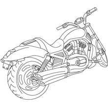 Dibujo para colorear grande HARLEY DAVIDSON - Dibujos para Colorear y Pintar - Dibujos para colorear VEHICULOS - Dibujos para colorear MOTOS