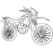 Dibujo de MOTO TRIAL para colorear - Dibujos para Colorear y Pintar - Dibujos para colorear VEHICULOS - Dibujos para colorear MOTOS