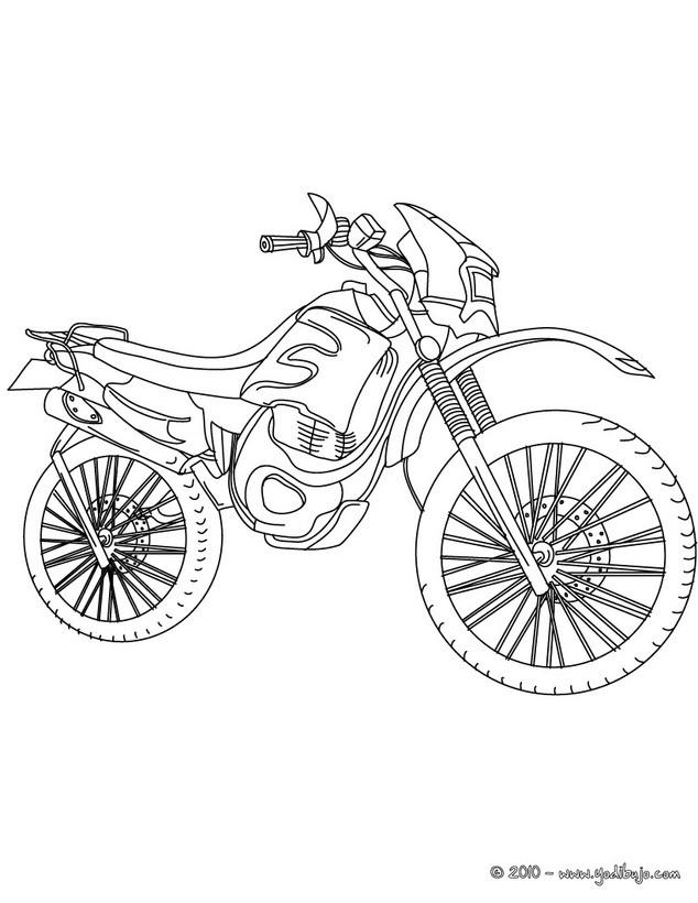 Dibujo para colorear : MOTO TRIAL