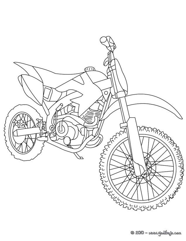 Dibujos para colorear MOTOS : 20 dibujos de moto para pintar y ...