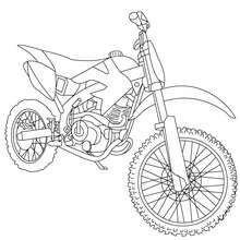 Dibujo de MOTOCROSS para coloreara - Dibujos para Colorear y Pintar - Dibujos para colorear VEHICULOS - Dibujos para colorear MOTOS