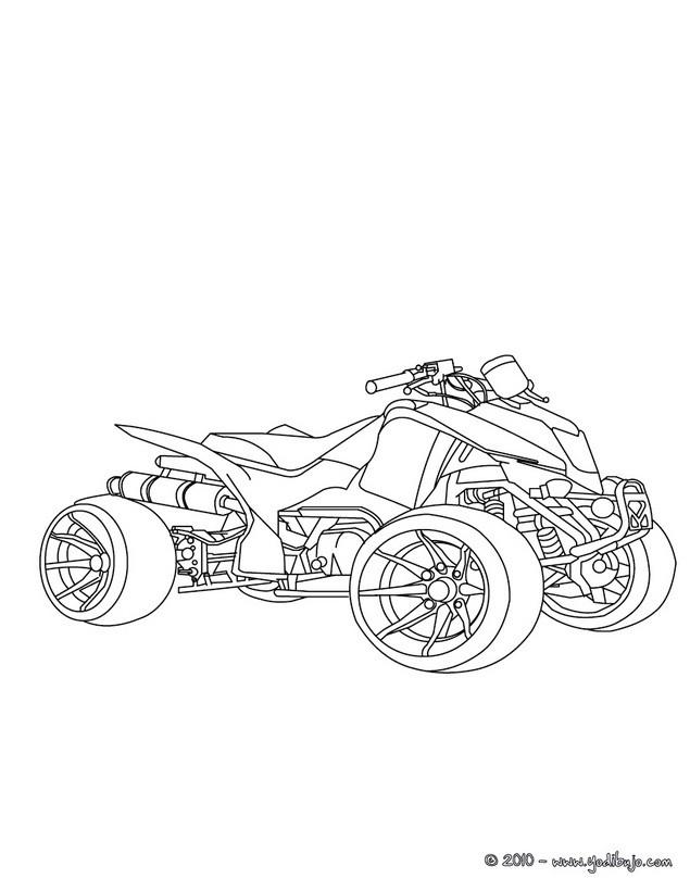 Dibujos para colorear un quad   es.hellokids.com