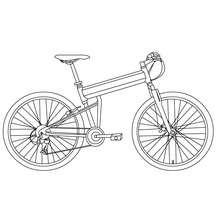Dibujo para colorear : una bici BMX
