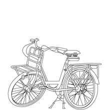 Dibujo para colorear una bicicleta - Dibujos para Colorear y Pintar - Dibujos para colorear VEHICULOS - Dibujos para colorear BICICLETAS
