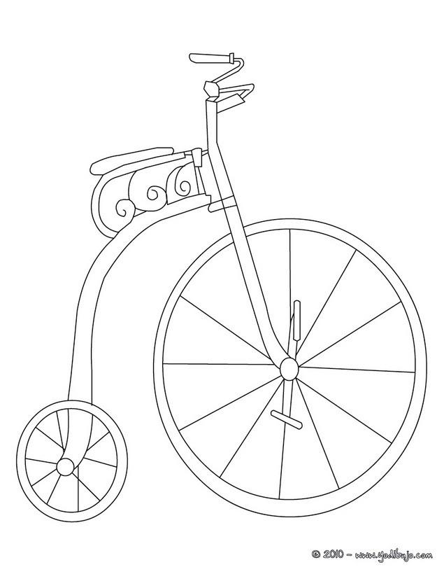 Dibujos Para Colorear Bicicleta Antigua Eshellokidscom