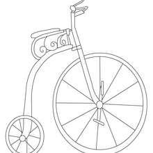 Dibujo para colorear bicicleta antigua - Dibujos para Colorear y Pintar - Dibujos para colorear VEHICULOS - Dibujos para colorear BICICLETAS