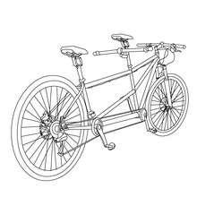 Dibujo de una bicicleta tantdem para colorear - Dibujos para Colorear y Pintar - Dibujos para colorear VEHICULOS - Dibujos para colorear BICICLETAS
