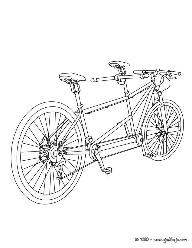 Dibujos para colorear una bicicleta bmx - es.hellokids.com