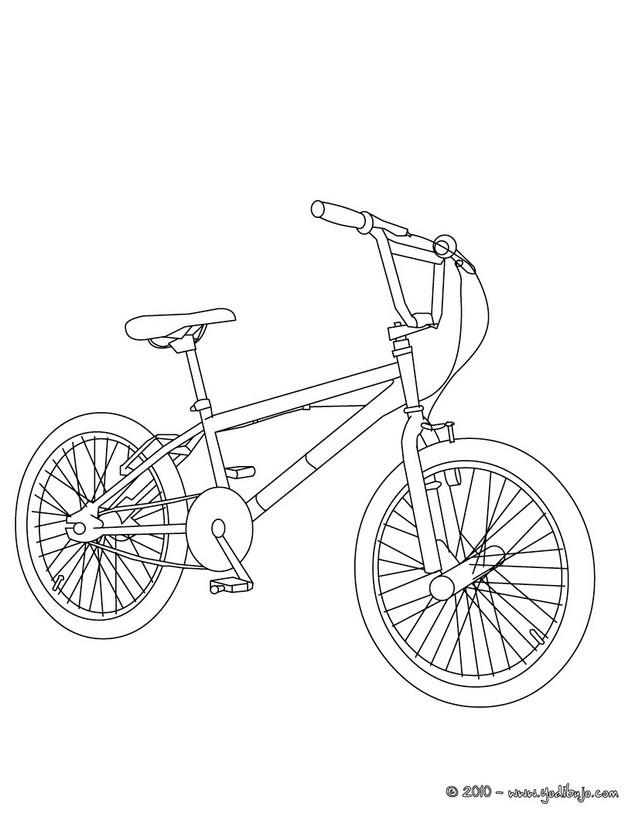 Dibujo para colorear : una bicicleta BMX