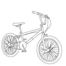 Dibujo de una bicicleta BMX para colorear - Dibujos para Colorear y Pintar - Dibujos para colorear VEHICULOS - Dibujos para colorear BICICLETAS