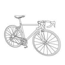 Dibujo para colorear una bicicleta de carrera - Dibujos para Colorear y Pintar - Dibujos para colorear VEHICULOS - Dibujos para colorear BICICLETAS