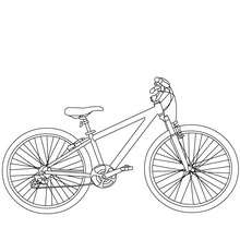 Dibujo para colorear : bicicleta todo terreno