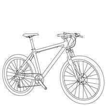 Dibujo para colorear : bicicleta de carretera