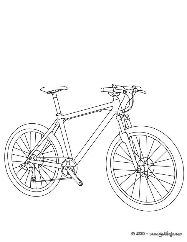 Dibujos para colorear bicicleta de carretera - es.hellokids.com