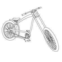 Dibujo para colorear bicicleta trial - Dibujos para Colorear y Pintar - Dibujos para colorear VEHICULOS - Dibujos para colorear BICICLETAS
