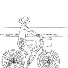 Dibujo para colorear bicicleta de paseo - Dibujos para Colorear y Pintar - Dibujos para colorear VEHICULOS - Dibujos para colorear BICICLETAS