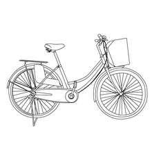 Dibujo para colorear bicicleta holandesa - Dibujos para Colorear y Pintar - Dibujos para colorear VEHICULOS - Dibujos para colorear BICICLETAS