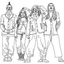 Dibujo de Black Eyed Peas para colorear - Dibujos para Colorear y Pintar - Dibujos para colorear FAMOSOS - BLACK EYED PEAS para colorear