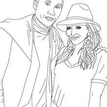 Fergie y Taboo de black eyed peas para colorear - Dibujos para Colorear y Pintar - Dibujos para colorear FAMOSOS - BLACK EYED PEAS para colorear