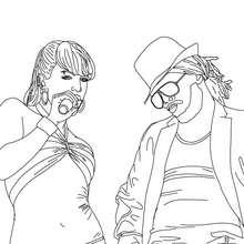 Fergie y Apl.De.Ap de Black Eyed peas para colorear - Dibujos para Colorear y Pintar - Dibujos para colorear FAMOSOS - BLACK EYED PEAS para colorear